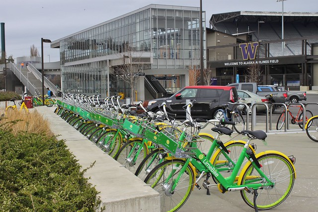LimeBike at UW Station