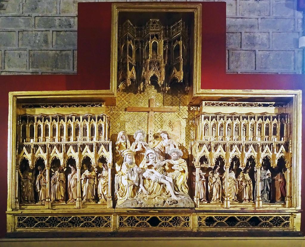 Retablo Descendimiento de las Navas de Tolosa gotico Refectorio Exposicion Occidens Catedral de Santa Maria La Real Pamplona