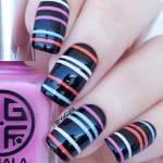 100 Stripes and Tape Nail Art Designs 2018