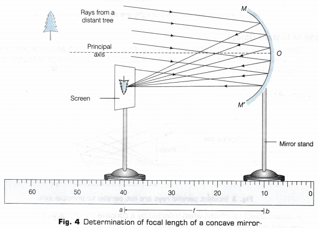 CBSE Class 10 Science Lab Manual - Focal Length of Concave Mirror