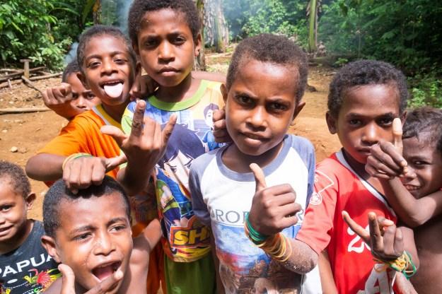 Boys at Saporkren village