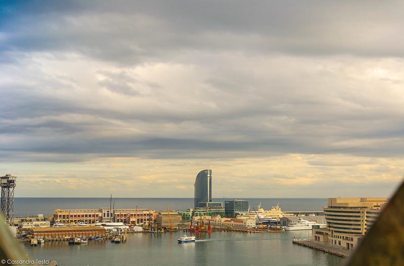 Vista sul porto da Mirador De Colòn
