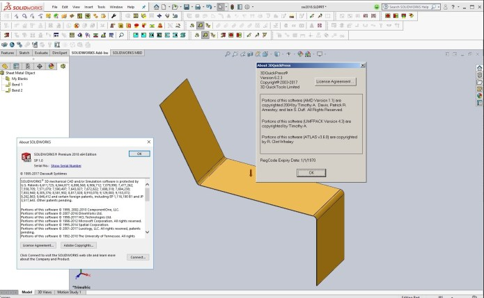 Working with 3DQuickPress v6.2.3 HotFix only for SolidWorks 2011-2018