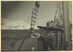 Photograph depicting the deck of HMAS Wyatt Earp.