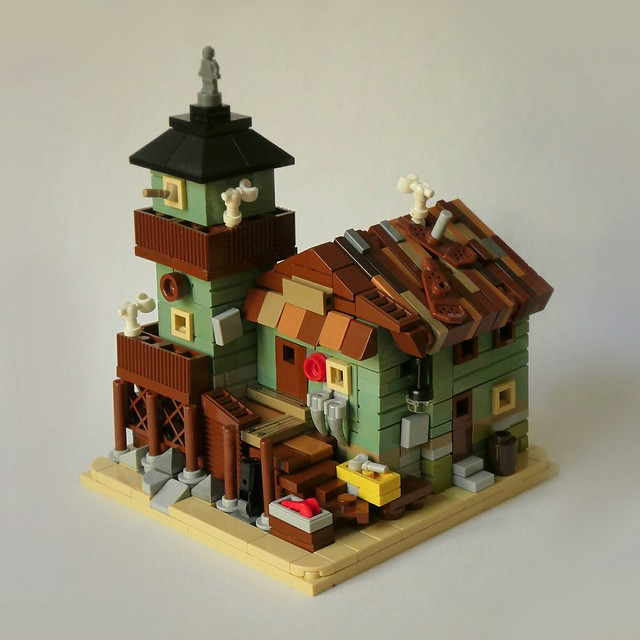 Micro Old Fishing Store