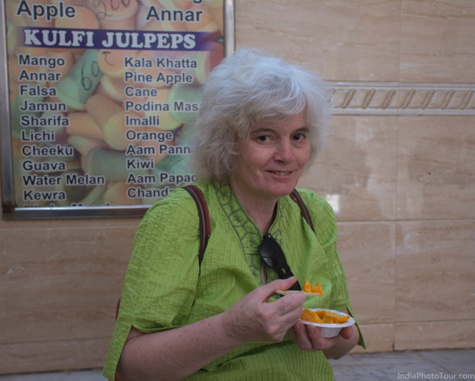 Tasting local icecream (kulfi)