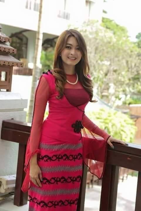Elegant Myanmar Traditional Wear Collection Fashion 2D
