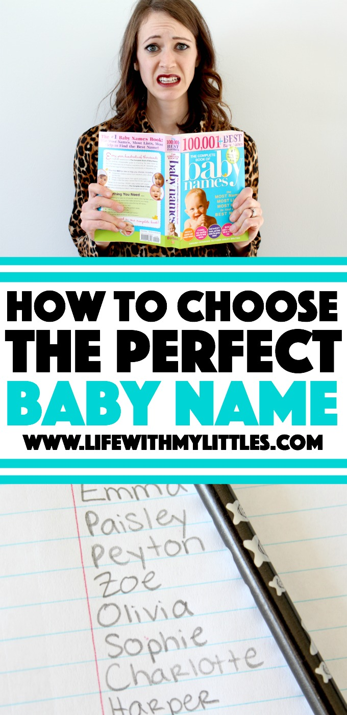 Not sure how to choose the perfect baby name? Check out this list of helpful tips and resources for choosing a baby name!