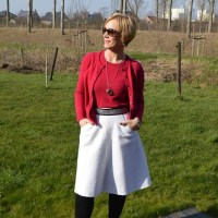 Outfit of the week: White winter skirt