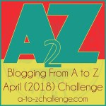 A to Z #atozchallenge 2018 friendly badge