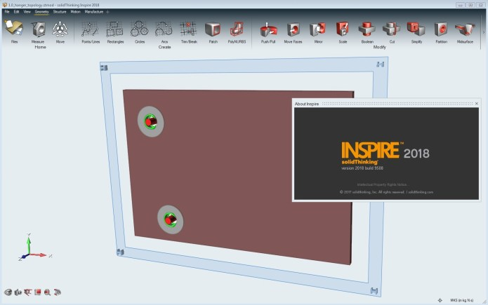 Working with solidThinking Altair Inspire 2018 (buld 9508) Win64 full license