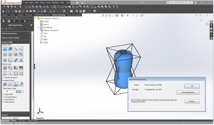Design with PowerSurfacing RE v2.4-4.2 for SolidWorks 2012-2018 64bit