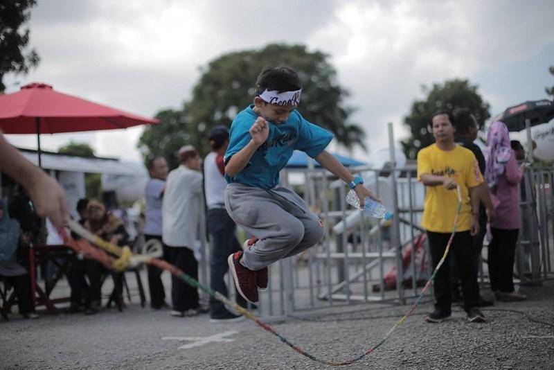 Permainan tali skipping di Gegaria
