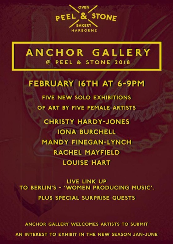 The Anchor Gallery - February 2018 at Peel & Stone, 374 High Street, Harborne, Birmingham