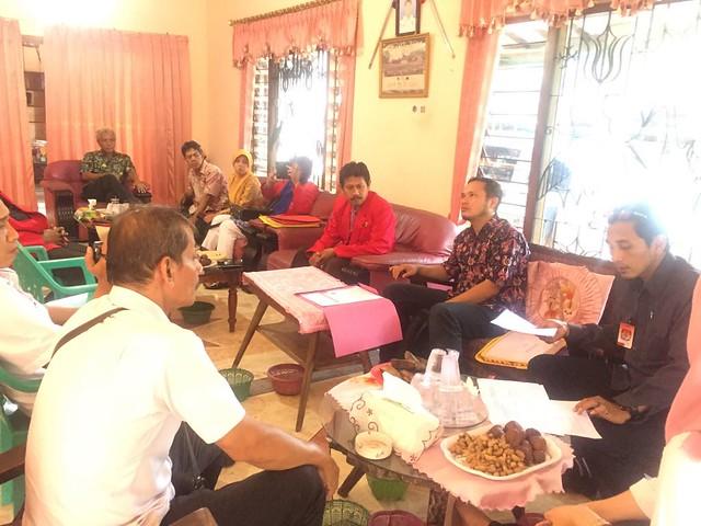 Suasana Verifikasi Faktual Partai Politik Peserta Pemilu 2019 oleh KPU Tulungagung di Kantor DPC PKPI Tulungagung (31/1)