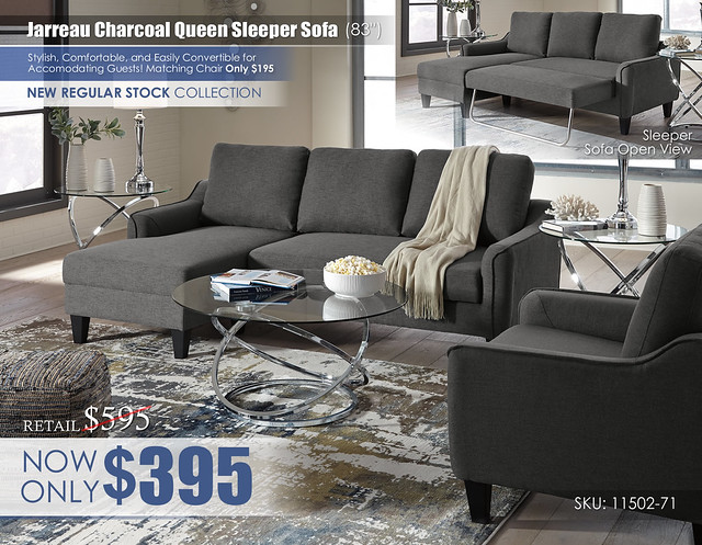 Jarreau Gray Queen Sleeper Sofa_Update_11502-71-20-T270