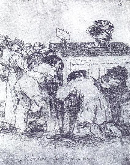 Miran lo que no ven Goya ca.1825 Uti 425