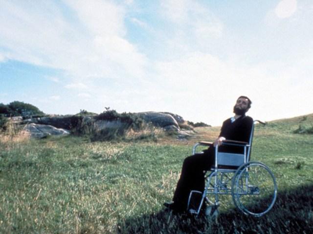 Daniel Day Lewis en la película Mi pie Izquierdo