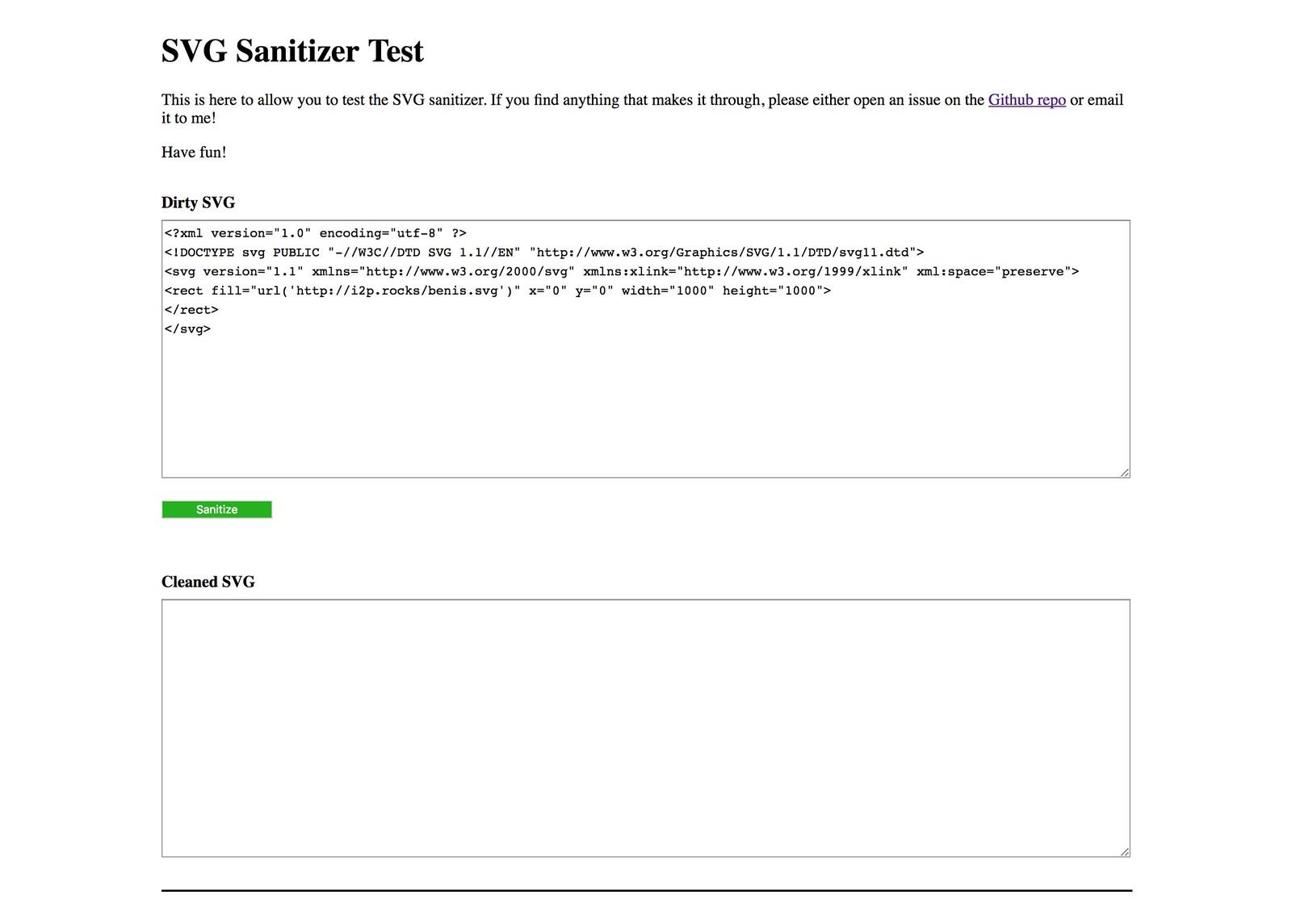 SVG Sanitizer Test
