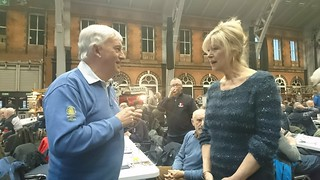 Julia Somerville meets visitors