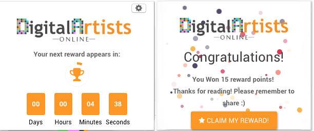 Widget de Claim de Digital Artis Online