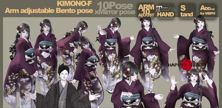 [HD]Bento pose KIMONO-F 2048