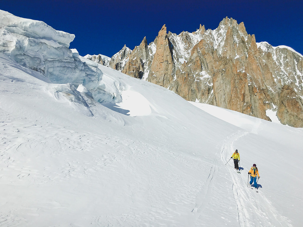 Ski touring the French Alps