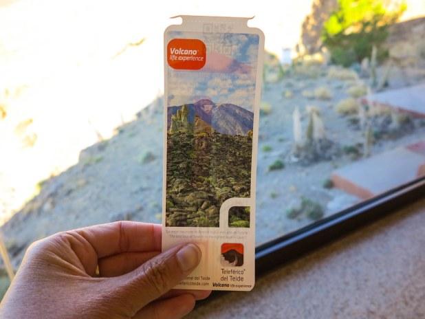 Ticket para el teleférico del Teide