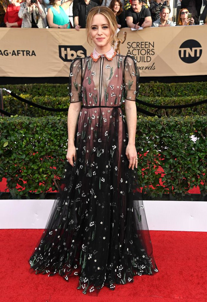 Claire Foy on Valentino at 23rd SAG Awards