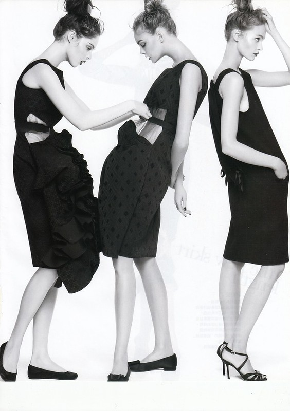 "modern cocktail : ""Smart Moves"", Vogue Taiwan, No125, Feb, 2007. Photographed by Steven Meisel, Fashion editor Grace Coddington, Hair Julien d'Ys, Makeup Pat McGrath for Max Factor"