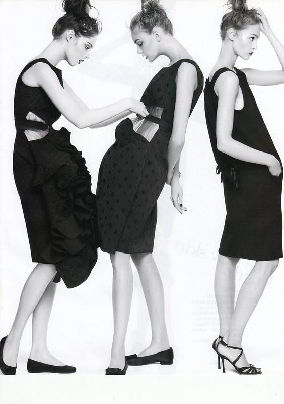 "modern cocktail:""Smart Moves"", Vogue Taiwan, No125, Feb, 2007. Photographed by Steven Meisel, Fashion editor Grace Coddington, Hair Julien d'Ys, Makeup Pat McGrath for Max Factor"