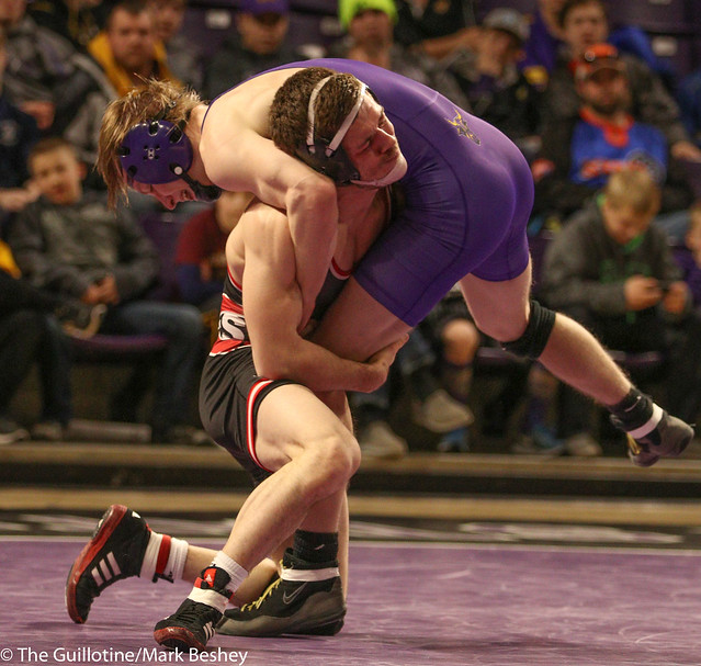 125: #5 Brett Velazquez (SCS) Major Dec. over Andrew McFall (MSU) 11-3 | SCS 16-13 MSU - 180203amk0231