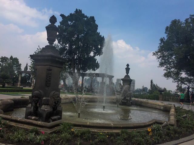 Entry Fountain at Chapultepec Castle
