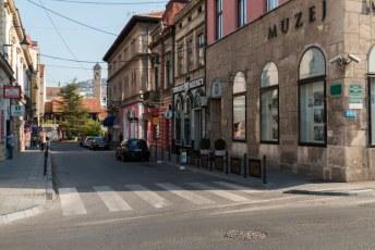 Hier rechts op de hoek werden in juni 1914 Prins Franz Ferdinand en zijn vrouw vermoord.