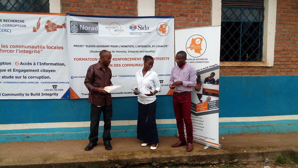 Formation des Responsables de Clubs d'Integrité