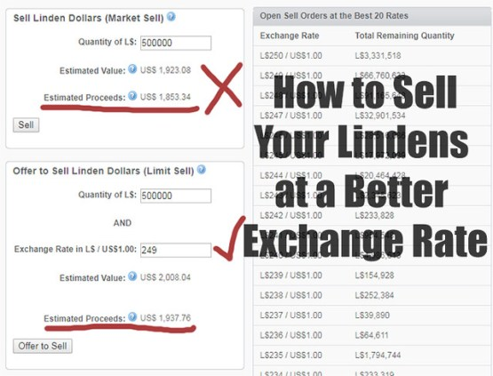 How to Sell Your Lindens at a Better Exchange Rate - #SecondLifeChallenge