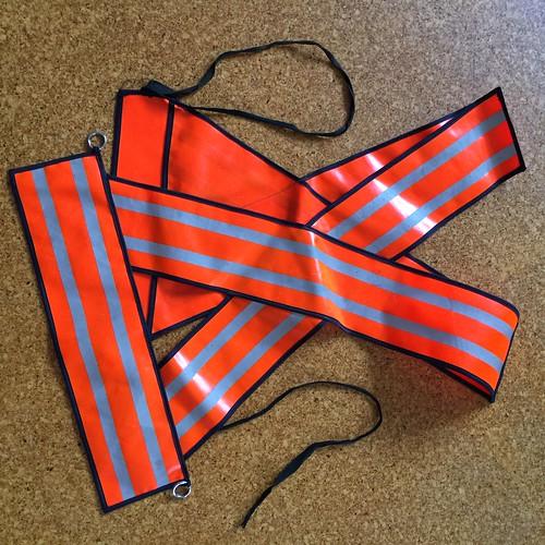 Safety vest - X type - for cycling