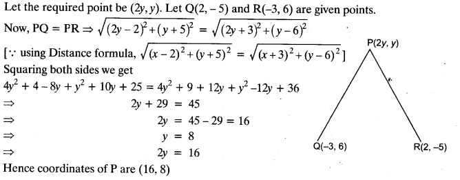 Important Questions for Class 10 Maths Chapter 7 Coordinate Geometry
