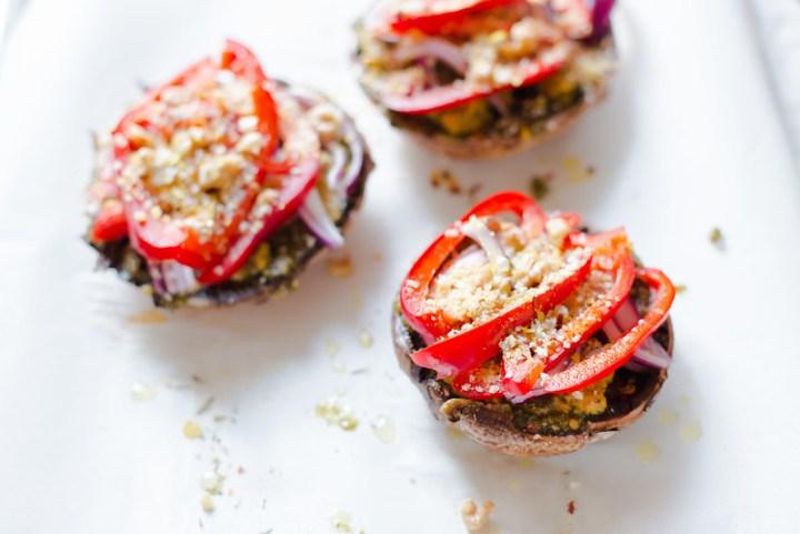Roasted Mushroom, Veggies and Crumb Topping