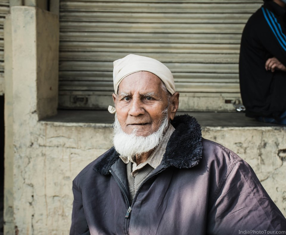 A local man who happily posed for a picture