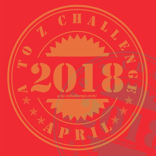 2018 #AtoZchallenge traditional badge