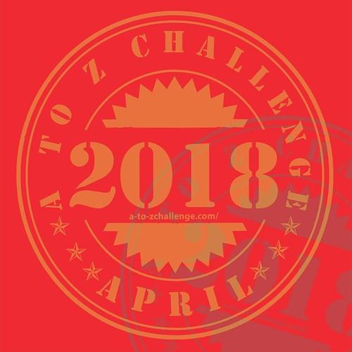 2018 #AtoZchallenge traditional badge
