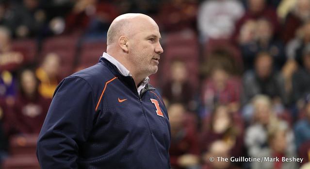 Illinois Coach Jim Heffernan. 180114AMK0010