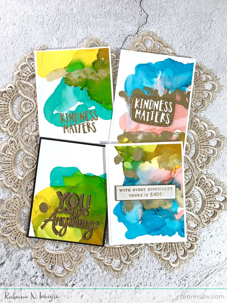 Alcohol Ink Die-Cut Cards