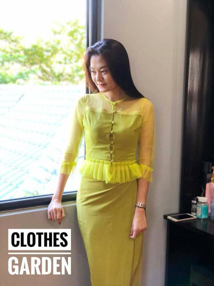 Myanmar Dress Oneset Design Collection 2018 Fashion 2D