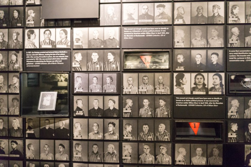 Photos of Prisoners/Victims of the Holocaust on Display at United States Holocaust Memorial Museum