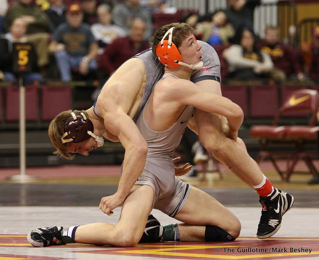 141 No. 11 Tommy Thorn (15-6) (Minnesota) dec. Mike Carr (6-3) (Illinois) 11-6. 180114AMK0118