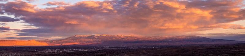 Grand Mesa Sunset Pano