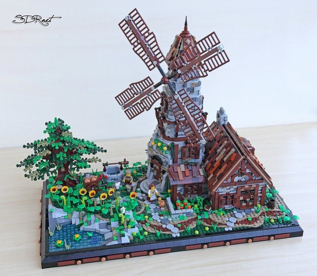 LEGO Medieval Windmill moulin à vent