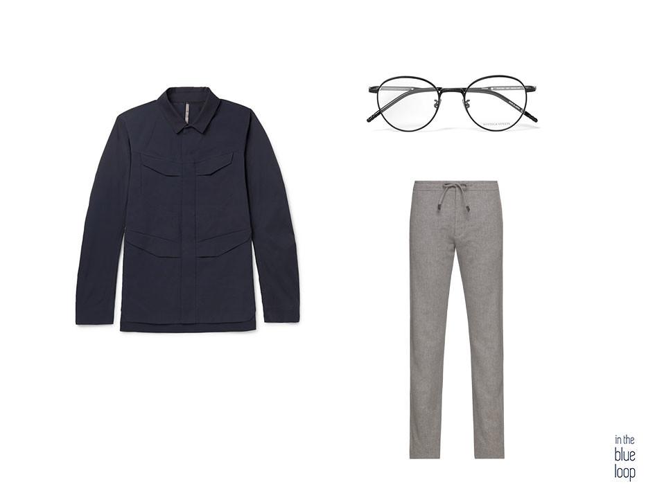 Overshirt para hombre, con pantalones casual y gafas de vista